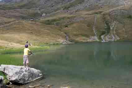 Péche au lac